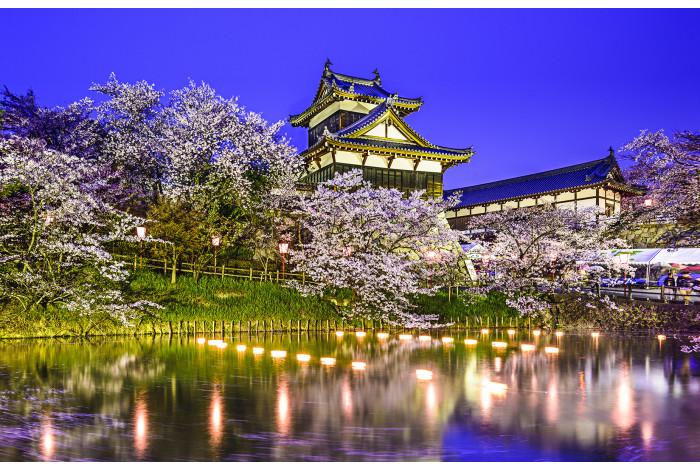 Модульная картина Замок Корияма Япония