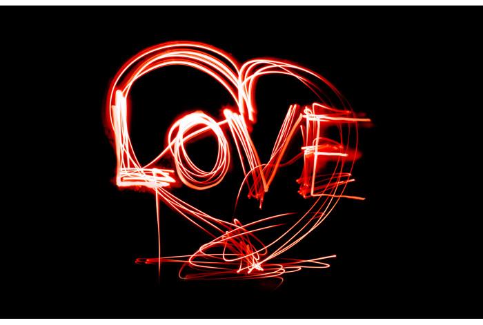 Модульная картина Рисунок Светом Любовь